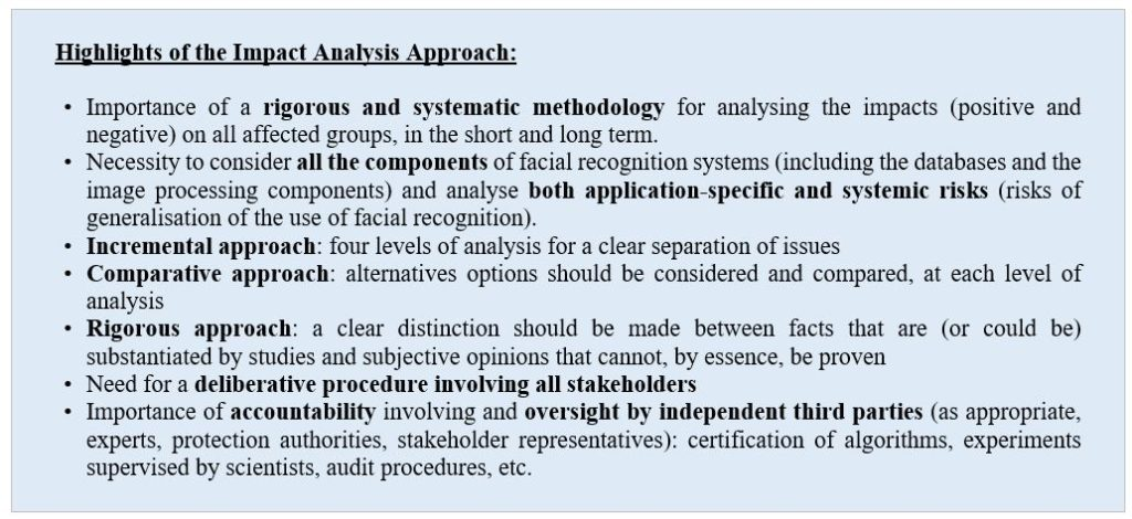 Figure 3 Highlights of the Impact Analysis Approach